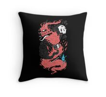 Death Of The Fire Demon Throw Pillow