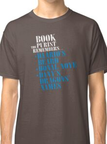 The Book Purist Remembers 3 Classic T-Shirt
