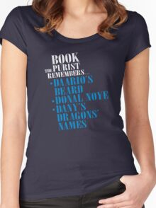 The Book Purist Remembers 3 Women's Fitted Scoop T-Shirt
