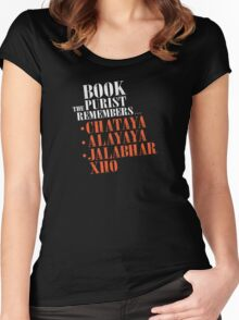 The Book Purist Remembers 2 Women's Fitted Scoop T-Shirt