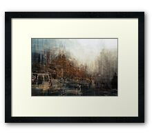 The 75 tram on Flinders Street Framed Print