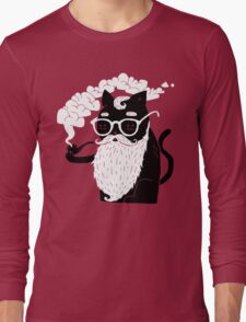 Whiskers And Pipe Long Sleeve T-Shirt