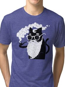 Whiskers And Pipe Tri-blend T-Shirt