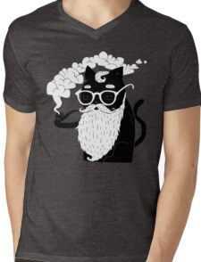 Whiskers And Pipe Mens V-Neck T-Shirt