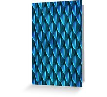 Scales of the Blue Dragon Greeting Card