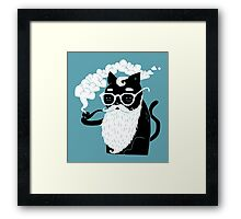 Whiskers And Pipe Framed Print