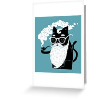 Whiskers And Pipe Greeting Card