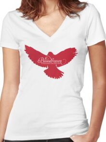 Bloodraven (Red) Women's Fitted V-Neck T-Shirt