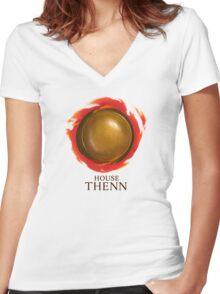 House Thenn Women's Fitted V-Neck T-Shirt