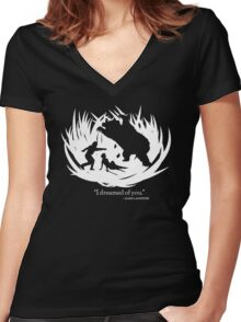 I Dreamed Of You (in white) Women's Fitted V-Neck T-Shirt