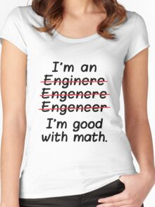 I'm an Engineer I'm Good at Math Women's Fitted Scoop T-Shirt