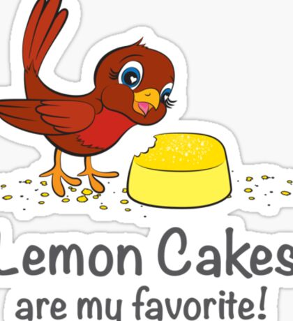 Lemon Cakes are my favorite! Sticker