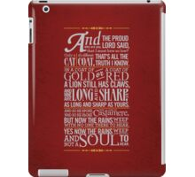 The Rains of Castamere iPad Case/Skin