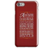 The Rains of Castamere iPhone Case/Skin