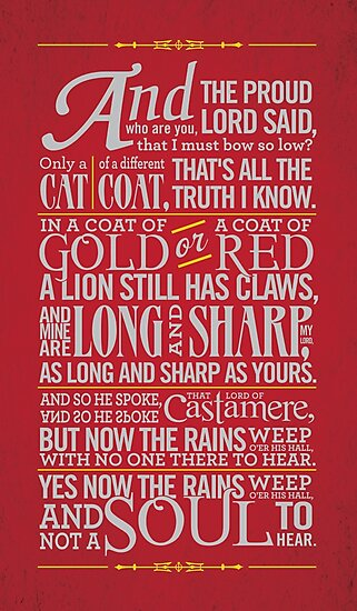 The Rains of Castamere by JenSnow