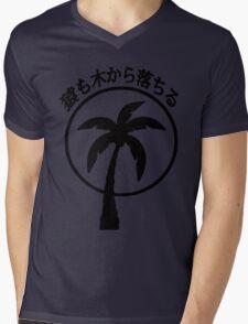 Even Monkeys Fall Out of Trees Japanese Kanji T-shirt Mens V-Neck T-Shirt