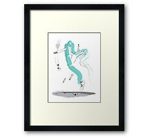 Smoke İllüstration Framed Print