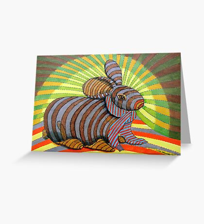 278 - PETER BUNNY - DAVE EDWARDS - COLOURED PENCILS & FINELINERS - 2009 Greeting Card