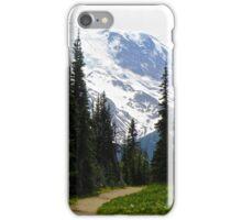 Mount Rainier Through the Trees iPhone Case/Skin