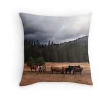 California Cows Throw Pillow