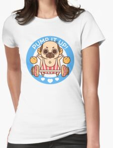 Pump It Up, Puglie! Womens Fitted T-Shirt