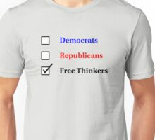 Election Ballot - Free Thinkers for Light T's Unisex T-Shirt
