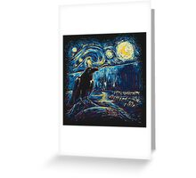 Starry Night's Watch Greeting Card