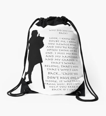 Why did you come back? Drawstring Bag