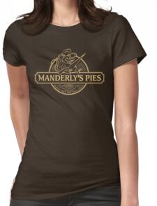 Manderly's Pies (in tan) Womens Fitted T-Shirt