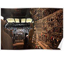 Concorde flight deck Poster