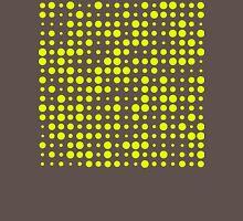 Modern Dots - Chartreuse Fluorescent Neon Grey Ash Charcoal Polka Yellow Green  Unisex T-Shirt