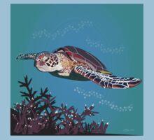 Green Sea Turtle Kids Tee
