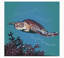 Green Sea Turtle One Piece - Short Sleeve