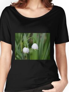 Snowflake Flowers Women's Relaxed Fit T-Shirt