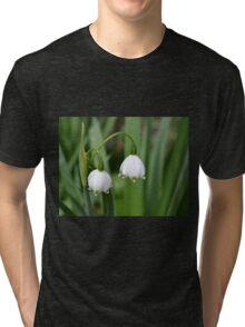 Snowflake Flowers Tri-blend T-Shirt