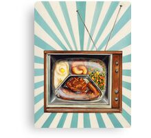 TV Dinner Canvas Print