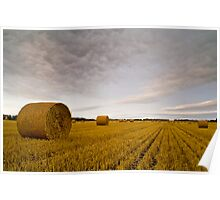 HAYBALES AND STUBBLE Poster
