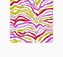 Zebra Stipes Animal Print Bright Pastel Colors Bright Purple Ultraviolet Yellow Hot Pink Yipes Stripes Unisex T-Shirt