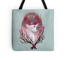 White Stag with Magnolias Tote Bag