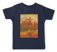 Sunset in the Double Star system in Carina constellation Kids Tee