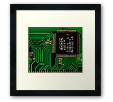 IC and Printed Circuit Board Framed Print