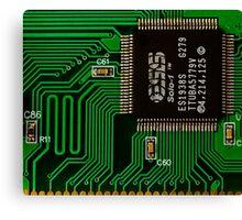 IC and Printed Circuit Board Canvas Print