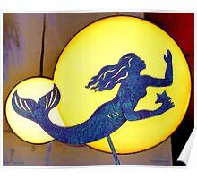 Indigo Mermaid Poster