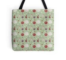 Rustic Charm Flirty Flower Pattern Tote Bag