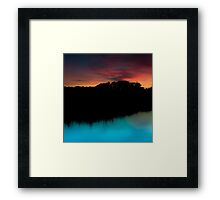 Another evening by the water in Cossington Framed Print