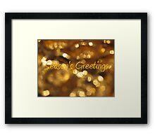 Season's Greetings © Framed Print