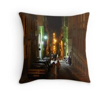 THE STREETS OF VALLETTA Throw Pillow