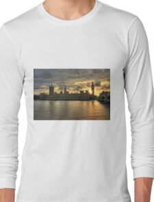 Sunset in London England Long Sleeve T-Shirt