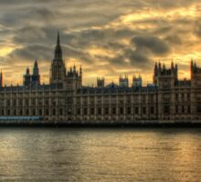 Sunset in London England Sticker