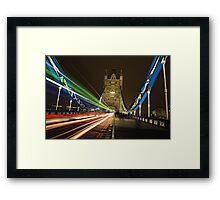 Light Trails on Tower Bridge, London Framed Print